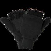 Insulated Fleece Fingerless Flip-Up Mittens- Size 10(XL) 24ct/12 pair