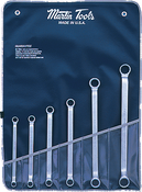 SET, Wrench, Double Offset Box, Chrome, 6 PC, BAG, Martin Sprocket #BO6K