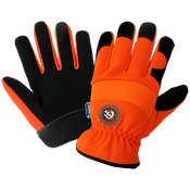 Hot Rod Gloves - High-Visibility Orange Insulated Waterproof Drivers Style Gloves- Size 9(L) 24ct/12 pair