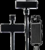 "4"" UV Black Identification Cable Ties External/Horizontal 18lb. (100/Bag)"