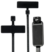 "8"" UV Black Identification Cable Ties Internal/Horizontal 18lb. (100/Bag)"