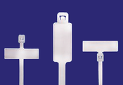 "14"" Natural Identification Cable Ties Internal/Vertical 50lb. (100/Bag)"