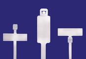 "4"" Natural Identification Cable Ties External/Horizontal 18lb. (100/Bag)"
