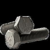 """1""""-8x2"""" Fully Threaded Hex Cap Screws Grade 5 Coarse Med. Carbon Plain (USA) (10/Pkg.)"""