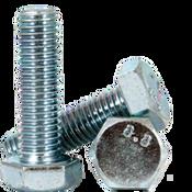 M16-2.00x90 MM (PT) DIN 931 / ISO 4014 Hex Cap Screws 8.8 Coarse Med. Carbon Zinc CR+3 (25/Pkg.)