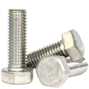 M5-0.80x12 mm DIN 933 Hex Cap Screws Coarse Stainless Steel A2 (100/Pkg.)
