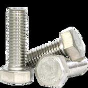 M6-1.00x16 mm DIN 933 Hex Cap Screws Coarse Stainless Steel A2 (100/Pkg.)