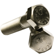 "1/2""-20x2-1/4"" Partially Threaded Hex Cap Screws Fine 316 Stainless Steel (50/Pkg.)"