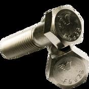 """1/2""""-20x2-1/2"""" Partially Threaded Hex Cap Screws Fine 316 Stainless Steel (50/Pkg.)"""
