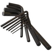 "7 Key 4"" Fold Up 2mm-8mm (Metric) Hex Key Sets Alloy 8650 (USA) (6/Pkg.)"