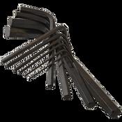 "3/16 6"" T Handle Hex Key Sets Alloy 8650 (USA) (10/Pkg.)"