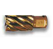 "9/16"" M42 Gold Finish, Type 15, Super Cobalt Steel Annular Cutter, Norseman Drill #14431"