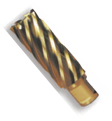 "2-3/16"" Spira-Broach Type 15L, M42 - HSS plus 8% Cobalt, Gold Finish, Annular Cutter, Norseman Drill #15252"
