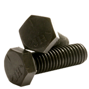 "1""-14x7"" Partially Threaded Hex Cap Screws Grade 5 Fine (UNS) Med. Carbon  Plain (10/Pkg.)"