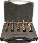 "5 Piece, Type 13SP, 1"" Pin, Spira-Broach Annular Cutter Set, Norseman Drill #16624"