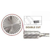 SB-13 Cylinder Shape, Premium Carbide Burr, with End Cut, Norseman Drill #17459