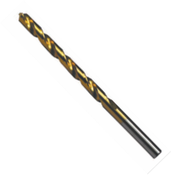 "3/16"" Type 100-BN General Purpose Jobber Length TiN Coated Drill Bit (6/Pkg.)"