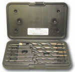 "12 Piece Type QR12-AG 1/4"" Quick Release, Mechanic Length Drill Bit Set, Norseman Drill #34811"