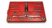 14 Piece Hi-Carbon Steel Course Thread Fractional Tap & Round Die Set (1 Set)