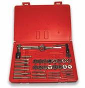 37 Piece Hi-Carbon Steel Machine Screw & Fractional Course & Fine Thread Tap and Round Die Set (1 Set)