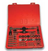 40 Piece Hi-Carbon Steel Machine Screw & Fractional Course & Fine Thread Tap and Round Die Set (1 Set)