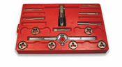 14 Piece Hi-Carbon Steel Fine Thread Fractional Tap & Hex Die Set (1 Set)