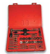 40 Piece Hi-Carbon Steel Machine Screw & Fractional Course & Fine Thread Tap and Hex Die Set (1 Set)