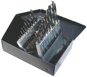 25 Piece 135 Degree Split Point Black & Gold HSS Type 170-AG Metric Jobber Drill Set
