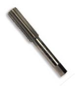 #10-24 HSS Type 25L-AG Gold Oxide Left Hand Straight Flute Hand Tap - Bottoming (3/Pkg.), Norseman Drill #60264