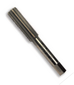 "7/16""-20 HSS Type 25L-AG Gold Oxide Left Hand Straight Flute Hand Tap - Bottoming (3/Pkg.), Norseman Drill #60394"