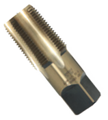 """1/4""""-18 Type 30-AG Gold Oxide Taper Pipe Tap - Regular (3/Pkg.), Norseman Drill 61260"""