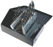 29 Piece Type 175-AG,  Mechanic Length, 135 Degree Split Point, Drill Bit Set, Norseman Drill #66480