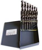 15 Piece Type 190-P Heavy Duty Black Oxide Jobber Length Drill Bit Set