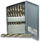 26 Piece Type 150-DN M42 Cobalt NAS 907J - TiN Coated Letter Size Cutting Tool Set