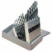 15 Piece Type 190-ACN Titanium Carbonitride HSS Heavy Duty Drill Bit Set