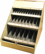 300 Piece Assortment, Type 175/178-AG, Fractional Drill Bits in Metal Display Cabinet
