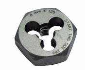 M8x1.25 Hi-Carbon Steel Die Type 790 - Hex (3/Pkg.), Norseman Drill #NDT-84080