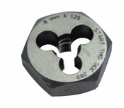 M12x1.75 Hi-Carbon Steel Die Type 790 - Hex (3/Pkg.), Norseman Drill #NDT-84160