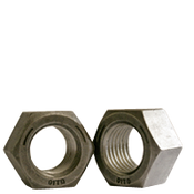 "1/4""-28 Finished Hex Nut, Grade 5, Fine Medium Carbon Steel, Plain (100/Pkg.)"