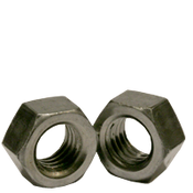 "1 1/8""-7 Finished Hex Nuts, Grade 2, Coarse, Low Carbon Steel, Plain (10/Pkg.)"