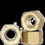 "5/16""-24 L-9 Hex Nut, Fine, Alloy, Cadmium Yellow & Wax (USA) (100/Pkg.)"