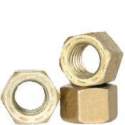"9/16""-18 L-9 Hex Nut, Fine, Alloy, Cadmium Yellow & Wax (USA) (25/Pkg.)"