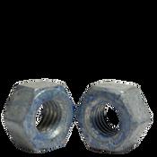 "7/8""-9 A563 Heavy Hex Nut Grade DH Coarse Medium Carbon Steel, Hot Dip Galvanized/Wax/Blue Dye (150/Bulk Pkg.)"
