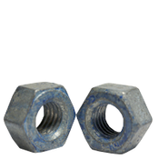 "1""-8 A563 Heavy Hex Nut Grade DH Coarse Medium Carbon Steel, Hot Dip Galvanized/Wax/Blue Dye (100/Bulk Pkg.)"