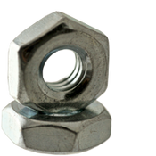 "3/8""-24x5/8""x1/4"" Hex Machine Screw Nut, Low Carbon Steel, Zinc Cr+3 (100/Pkg.)"