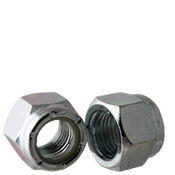 "1""-8 NU (Heavy) Nylon Insert Locknuts, Coarse, Low Carbon Steel, Zinc Cr+3 (25/Pkg.)"