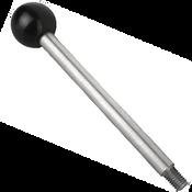 "Kipp 5/16""-18 Gear Lever, Stainless Steel, Style A, 100 mm Length (1/Pkg.), K0179.12A3X100"
