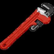 "Straight Iron Handle Pipe Iron Wrench 10"", Martin Sprocket #PW10"
