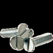 """1/4""""-20x1-1/8"""" F/T Flat Slotted Machine Screw Flat Head Slotted Zinc Cr+3 (100/Pkg.)"""