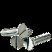 """1/4""""-20x1-3/4"""" F/T Flat Slotted Machine Screw Flat Head Slotted Zinc Cr+3 (100/Pkg.)"""